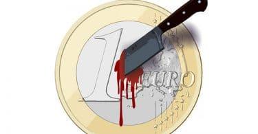 Pièce de 1 euro poignardé connard