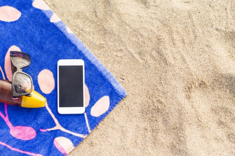 smartphone vacances