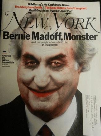 Bernie Madoff Monster magazine
