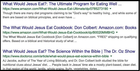 expert informations Jésus cuisine