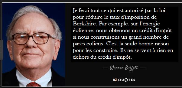 Citation Warren Buffett impôts