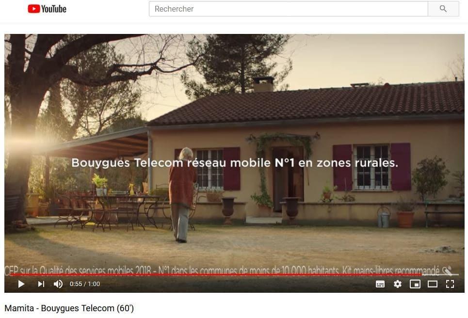 télécoms spot publicitaire Bouygues Telecom