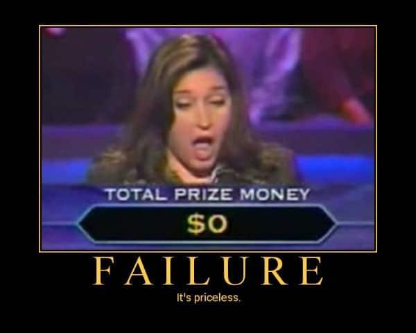 l'échec ça n'a pas de prix