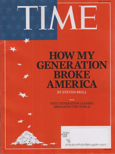 Une magazine Time Comment ma génération a détruit l'Amérique