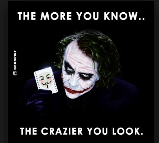 citation joker Plus vous en savez, plus vous avez l'air d'un fou