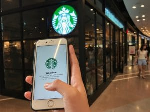 application starbucks paiement mobile entreprise