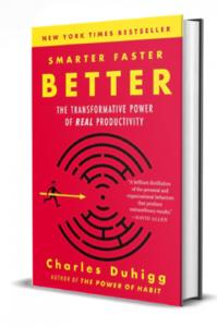 livre Charles Duhigg Smarter Faster Better