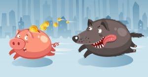 cochons loup loi de l'argent