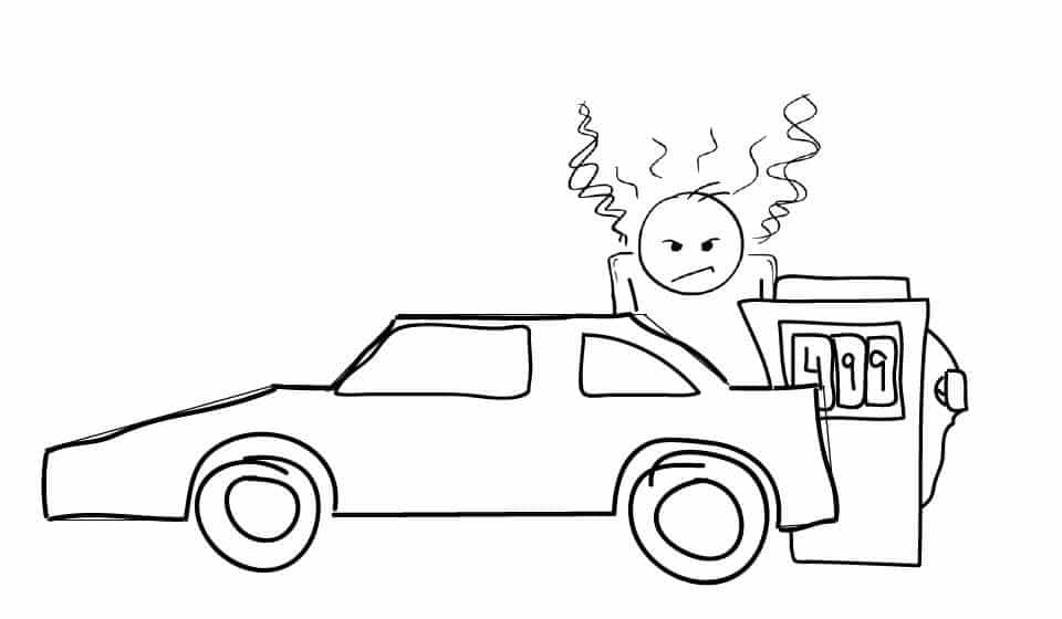 croquis voiture prix essence