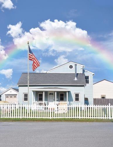 maison palissade blanche