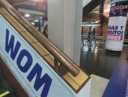 rampe cuivre métro Santiago