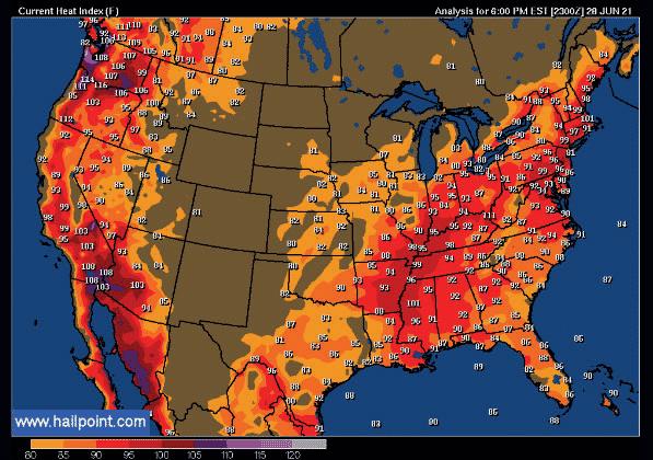 carte météo USA